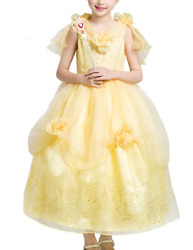 Beauty and beast Yellow Belle Princess Dress Cute Party Halloween $23.99