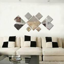 3D Mirror Wall Stickers Removable Self Adhesive DIY Decals Home Room Art Decor $8.16