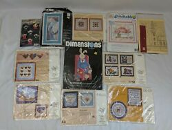 Lot of 11 Counted Cross Stitch DIY Kits Set Embroidery Bunny Angels Baby $24.50