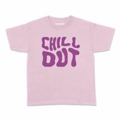 Trippy Chill Out Kids Tshirt Hippie Funny High Teens Youth AU $23.95