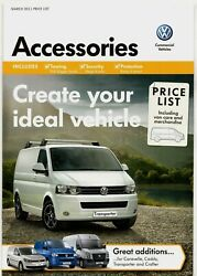 Volkswagen Commercial Accessories Prices 2011 UK Brochure Caddy Transporter