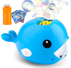 Bubble Machine Whale Fish Party Automatic Bubble Maker Indoor Outdoor $9.99