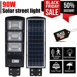 120000LM Commercial Solar Street Light LED Outdoor IP67 Dusk to Dawn Road Lamp