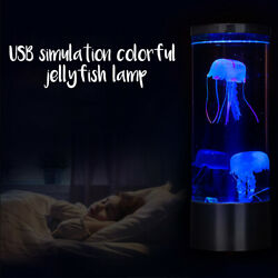 LED Night Light Fantasy Bedside USB Charging Hypnotic Jellyfish Color Changing $25.90