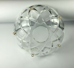 1 Piece 100mm 4quot; Crystal chandelier Bobeche Chandelier Parts cups W Gold pins $9.90