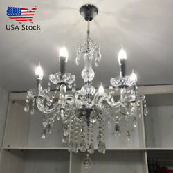 Elegant Crystal Chandelier Modern 6 Ceiling Light Lighting Pendant Fixture Lamp $71.02