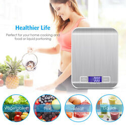 Stainless Steel Digital Weight Scale Electronic Kitchen Food Postal 5KG 11LBS $6.99