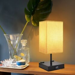 Bedside Table Lamp Nightstand Lamp for Bedroom with Daylight Color $35.89