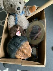 JUNK DRAWER LOT Antique Vintage Collectibles Toy Star WarsTeddy Bear Baseball $25.00
