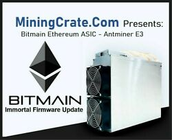 Antminer E3 🔥 IMMORTAL UPDATE 🔥 ETH 190MH ASIC included Power Supply 😎 USA $1425.00