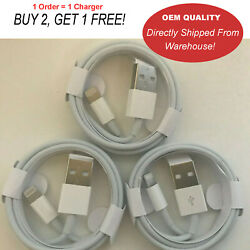 OEM original Apple iPhone USB Cable 3FT Charger 11 XS Max X 8 7 6S 7 plus ipad $4.99