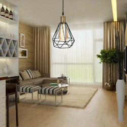 Pendant Light with Plug in Switch Hanging Lamp,Metal Cage Shade Swag Lighting US $27.59