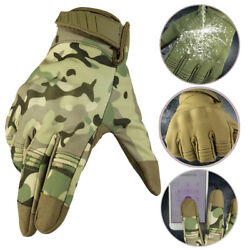 Men Military Tactical Gloves Outdoor Sports Army Full Finger Waterproof Gloves $11.99