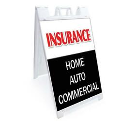A frame Insurance Home Auto Commercial Sign Double Sided Graphics 24quot; X 36quot;