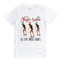 Womens Funny Christmas T Shirts Novelty Gift Ideas for Her All The Jingle Ladies GBP 10.95