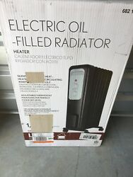 1500 Watt Oil Filled Radiant Electric Space Heater with Thermostat $47.00