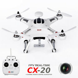 CX 20 RC Drone Quadcopter GPS FPV 6 Axis Gyro Helicopter Kids Toy White usa $127.90