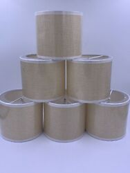 New Wellmett Chandelier Shades Drum Small For Candle Bulbs 6 Pack Cream White $47.00
