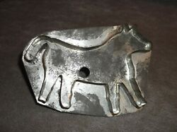 Antique Large Folky Horse Tin Flat Back Cookie Cutter Mold Primitive $39.99