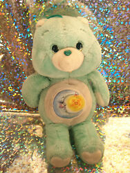 VINTAGE1980s BLUE GREEN MOON NIGHT STAR BEDTIME CARE BEAR BABY BOY GIRL TOY $35.00
