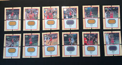"Jordan 99 00 Ud Mjs Final Floor Set 12 Cards Ff1 ff12 3""x5"" $775.00"
