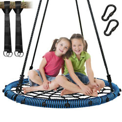 40quot; Outdoor Nest Swing 100cm Spider Web Swing Kids#x27; Swing Heavy Duty Bis 700Lbs $78.88