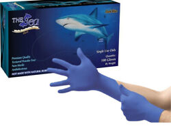 100 per box Blue Nitrile Gloves Non Latex Small or XL XLarge $17.54