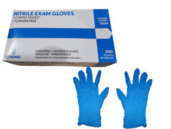 200 per box Blue Nitrile Exam Gloves Powder Free Small Medium Large $24.25