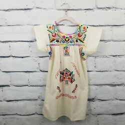 Embroidered Girls Size 8 Dress Hippie Tunic Huipil Peasant $20.29
