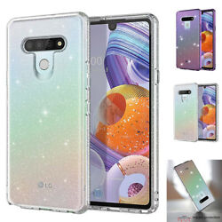 Clear Glitter Bling Slim TPU Shockproof Rugged Crystal Cover For LG Stylo 6 Case $8.45