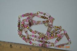 Vintage Glass Bead Necklace pink C $10.00