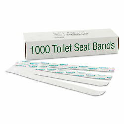 Bagcraft Sani Shield Printed Toilet Seat Band Paper Blue White 16quot; Wide x 1 1 2quot; $16.14