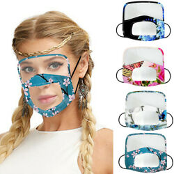 Stylish Women Face Mask Face Cover Rhinestone With Clear Window and Eyes Shield $7.99