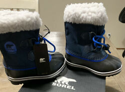 Sorel kids Boy girl Toddler 10. Blue Waterproof 40 degrees Snow Boots $80.00