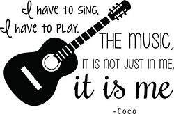 Inspirational Decals Coco Movie Music Wall Decal Vinyl Sticker Bedroom Decor $6.90