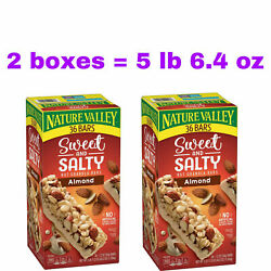 2 Boxes Nature Valley Sweet amp; Salty Nut Almond Granola Bars 36 ct 5 lb 6.4 oz $29.94