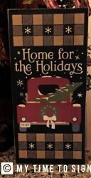 Primitive Home For The Holidays Christmas Sign $34.00