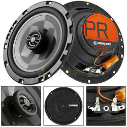 Memphis Audio 6.5quot; 2 Way Shallow Coaxial Speakers Power Reference 80W Max Pair $99.95