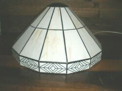 12quot; Tiffany Style White Stained Lamp Shade BEAUTIFUL not glass $49.00