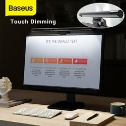 Baseus PC Computer Monitor Screen Bar LED Light Touch Control Hanging Desk Lamp $29.99