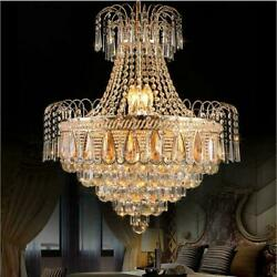 Gold Luxury Crystal Chandeliers Modern Lighting Pendant Lamps Ceiling Fixtures $219.30