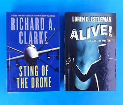 2 LARGE PRINT STING OF THE DRONE by RICHARD A.CLARKE amp; ALIVE by LOREN D.ESTLEMAN $9.99
