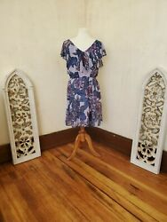 Maurices Sleeveless Above the Knee Floral Purple Dress $8.00