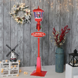 71in Outdoor Novelty Christmas Snowing Lamp Xmas Street Light Home Decor Gifts $129.72