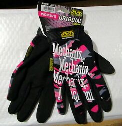Mechanix Wear Women#x27;s Gloves Pink Camo MG 72 530 Size Large New With Tags $19.99