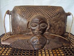 TWA PYGMY ROYAL BOX 2 African Carving from RWANDAN Rawandan VERY RARE $92.50