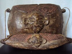 EXTREMELY RARE TWA PYGMY ROYAL BOX 1 from RWANDA Rawanda African Carving LARGE $162.50