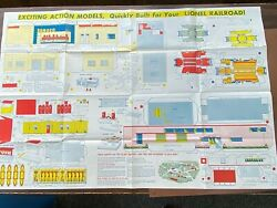 Vintage Lionel Railroad Sheet Of Paper Cutouts 1952 For Your Layout $15.00