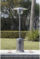 AmazonBasics Commercial Outdoor Patio Heater with Wheels Slate Grey In Hand