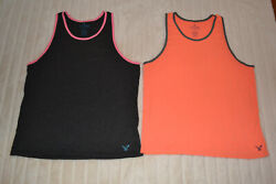 Mens LOT of 2 American Eagle Muscle Tank Size Large Classic Fit Legend T $20.00